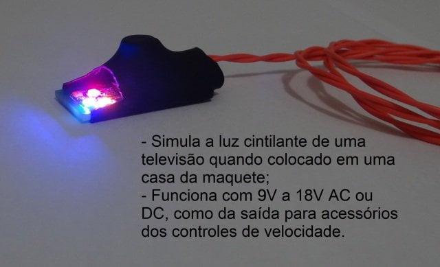 Módulo Simulador de TV para Maquetes
