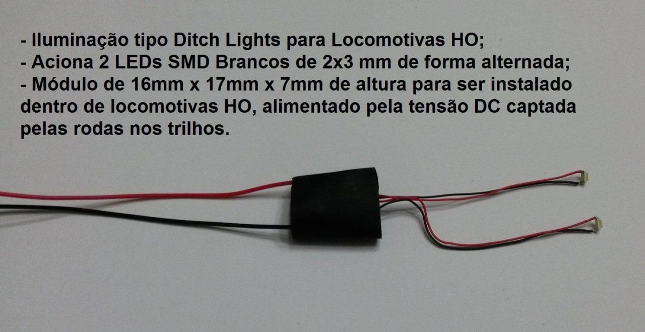 Faróis tipo Ditch Lights para Locomotivas