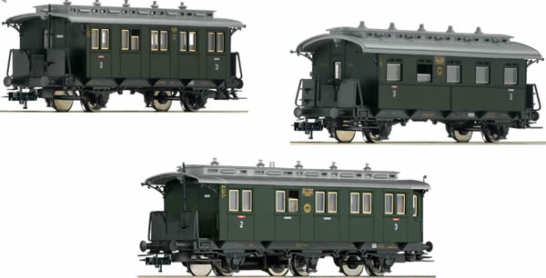 3 Carros  de Passageiros