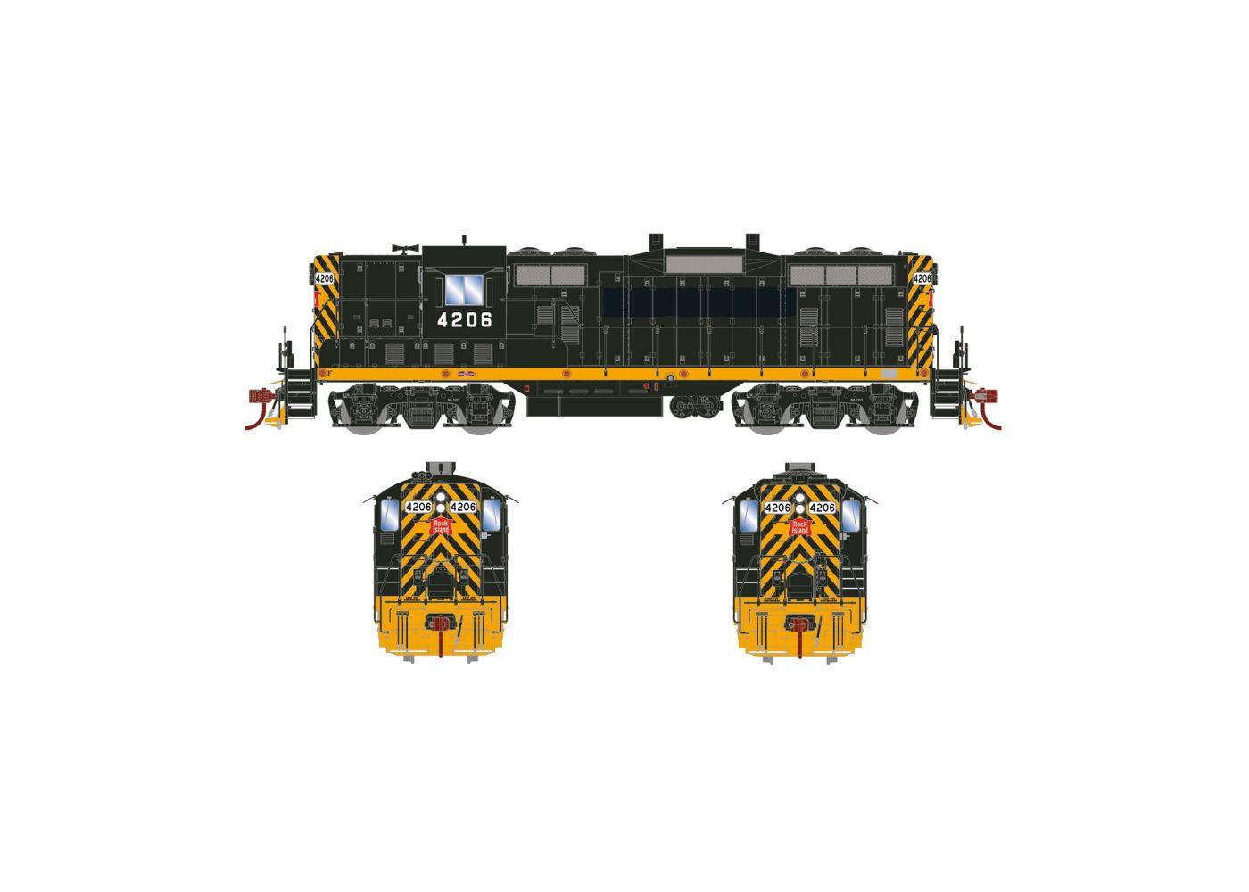 Locomotiva GP7 Rock Island Com Som e DCC