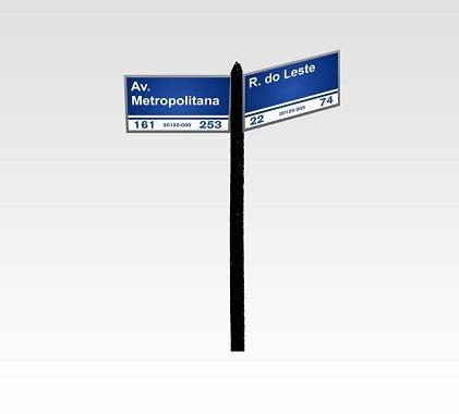 Placa de Rua Personalizada