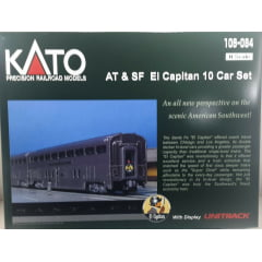 Conjunto 10 Carros de Passageiro AT&SF EL CAPITAN